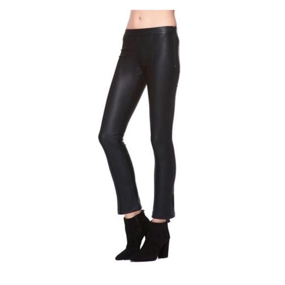 08252bf2f02d3 David Lerner Pants | Pintuck Flare Vegan Leather Crop Pant | Poshmark